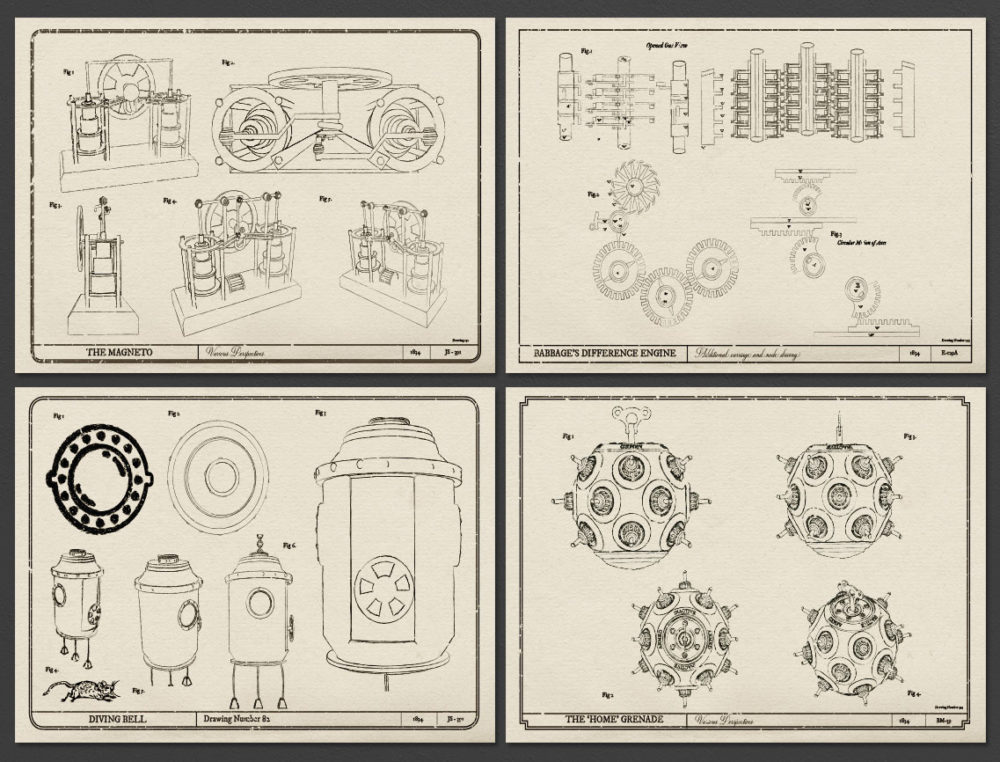 doctor who technical drawings stephen fielding graphic
